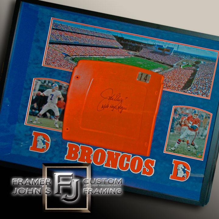JOHN ELWAY SIGNED MILE HIGH STADIUM SEAT