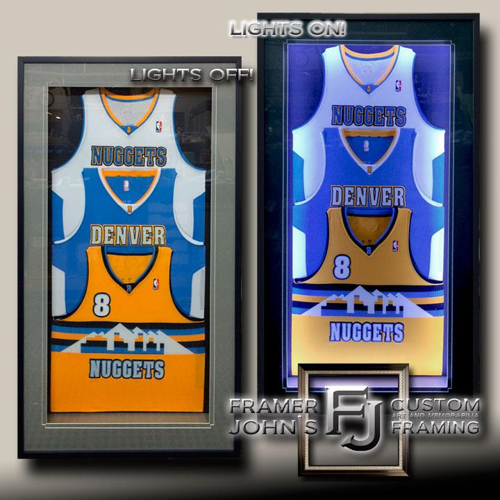 CUSTOM TRIPLE-JERSEY SHADOWBOX WITH LED LIGHTING
